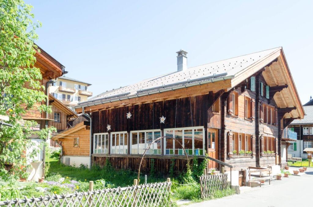 Häuser in Mürren
