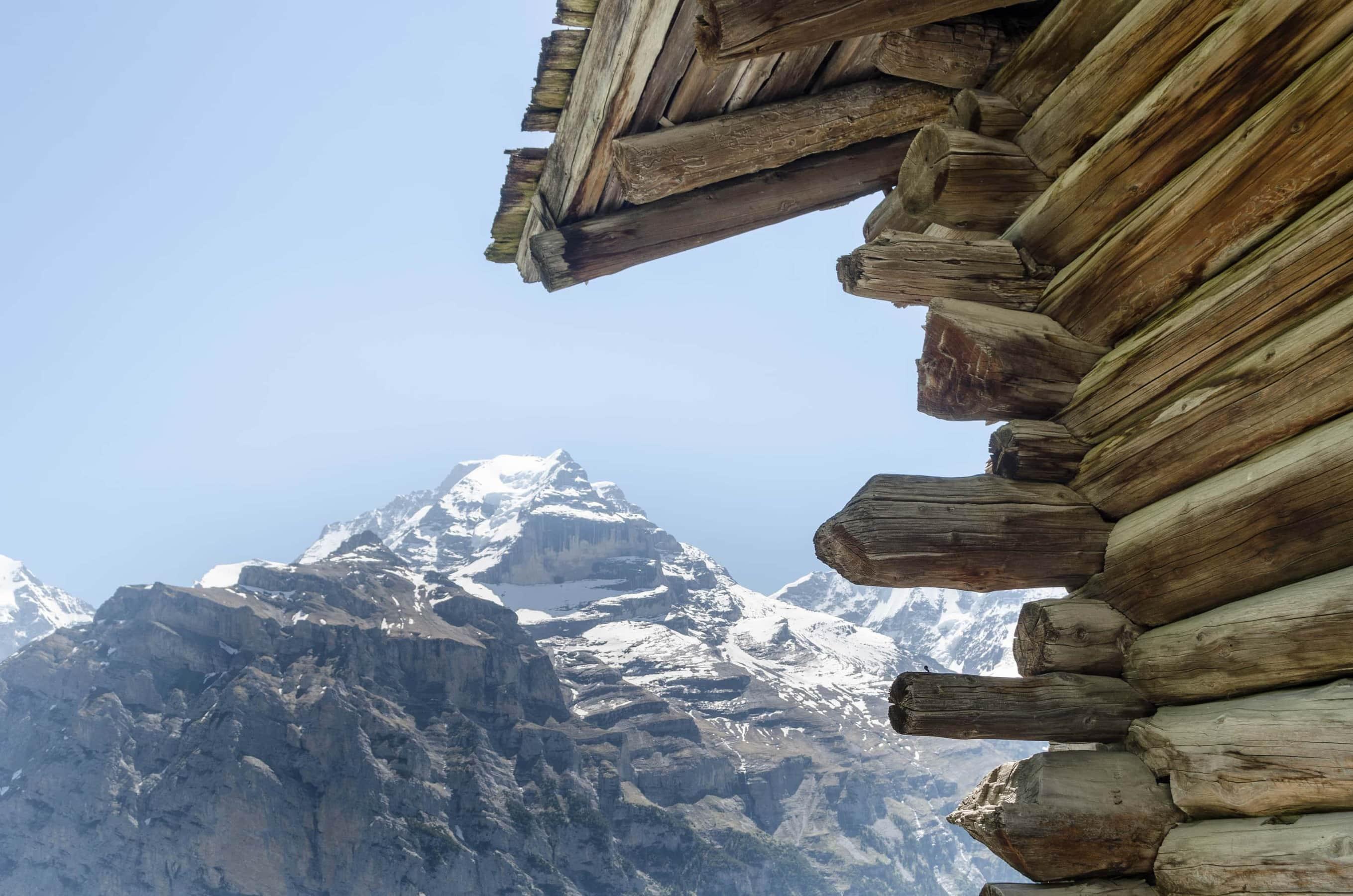 Blick auf Eiger, Mönch und Jungfrau