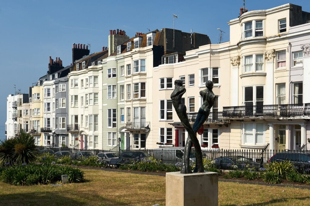 New Steine Park mit Aids Memorial in Brighton