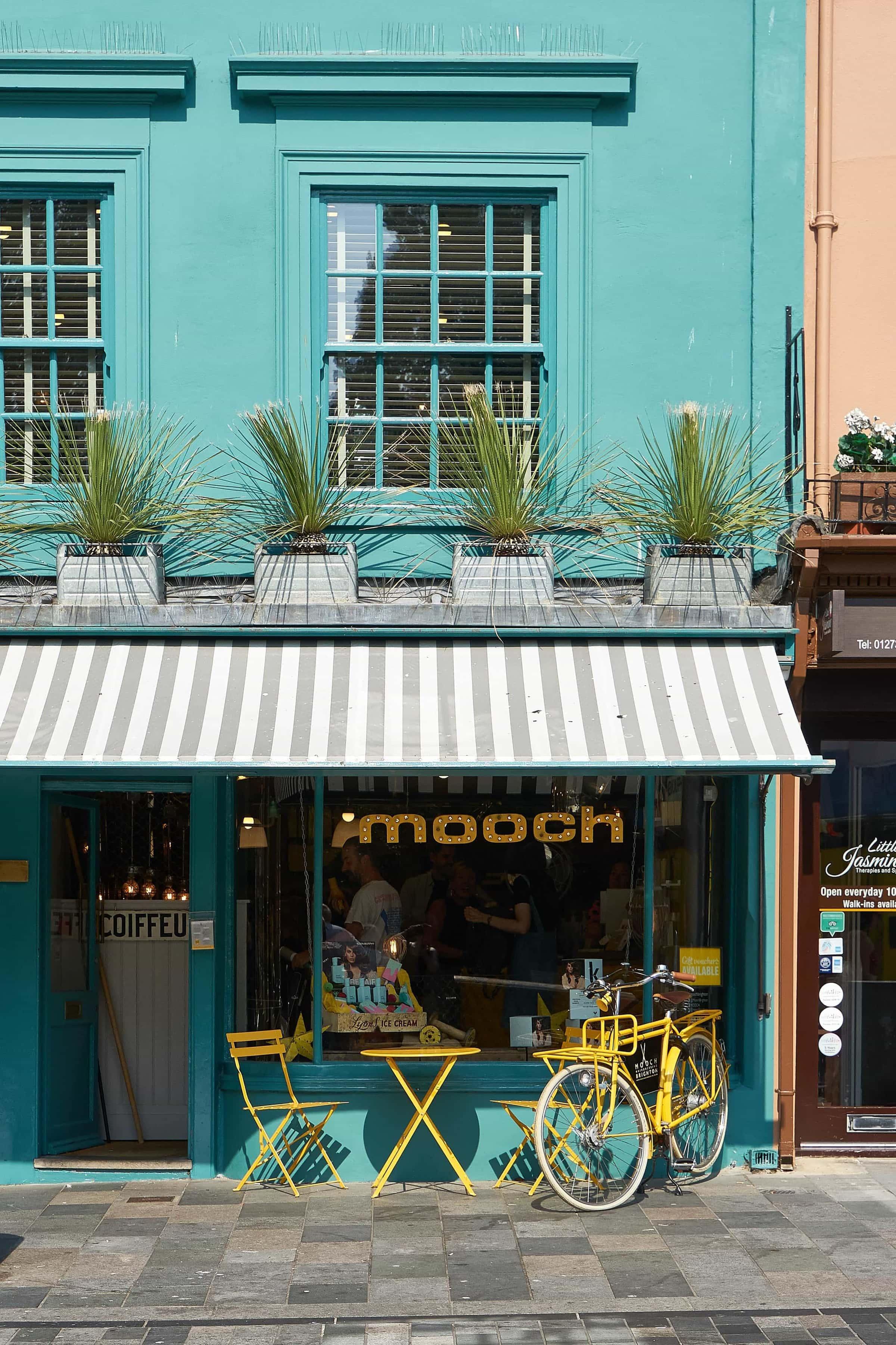 Originell gestaltete Geschäfte in den North Laines in Brigthon