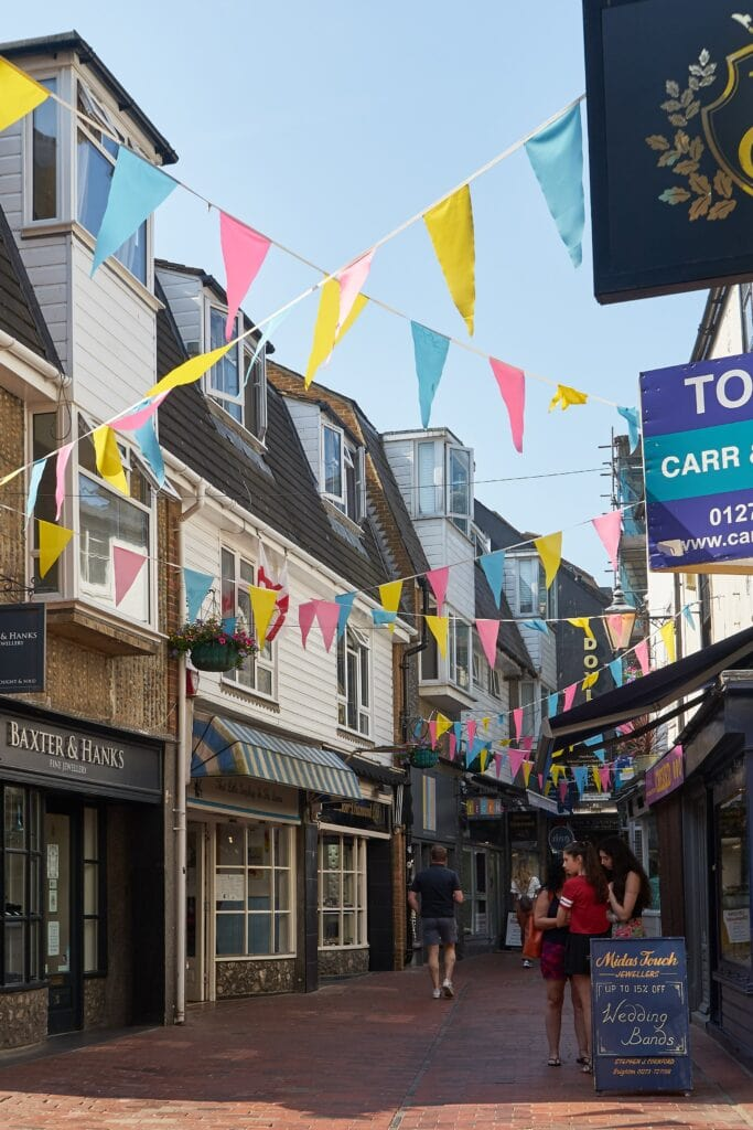 Gasse in Brighton - The Lanes