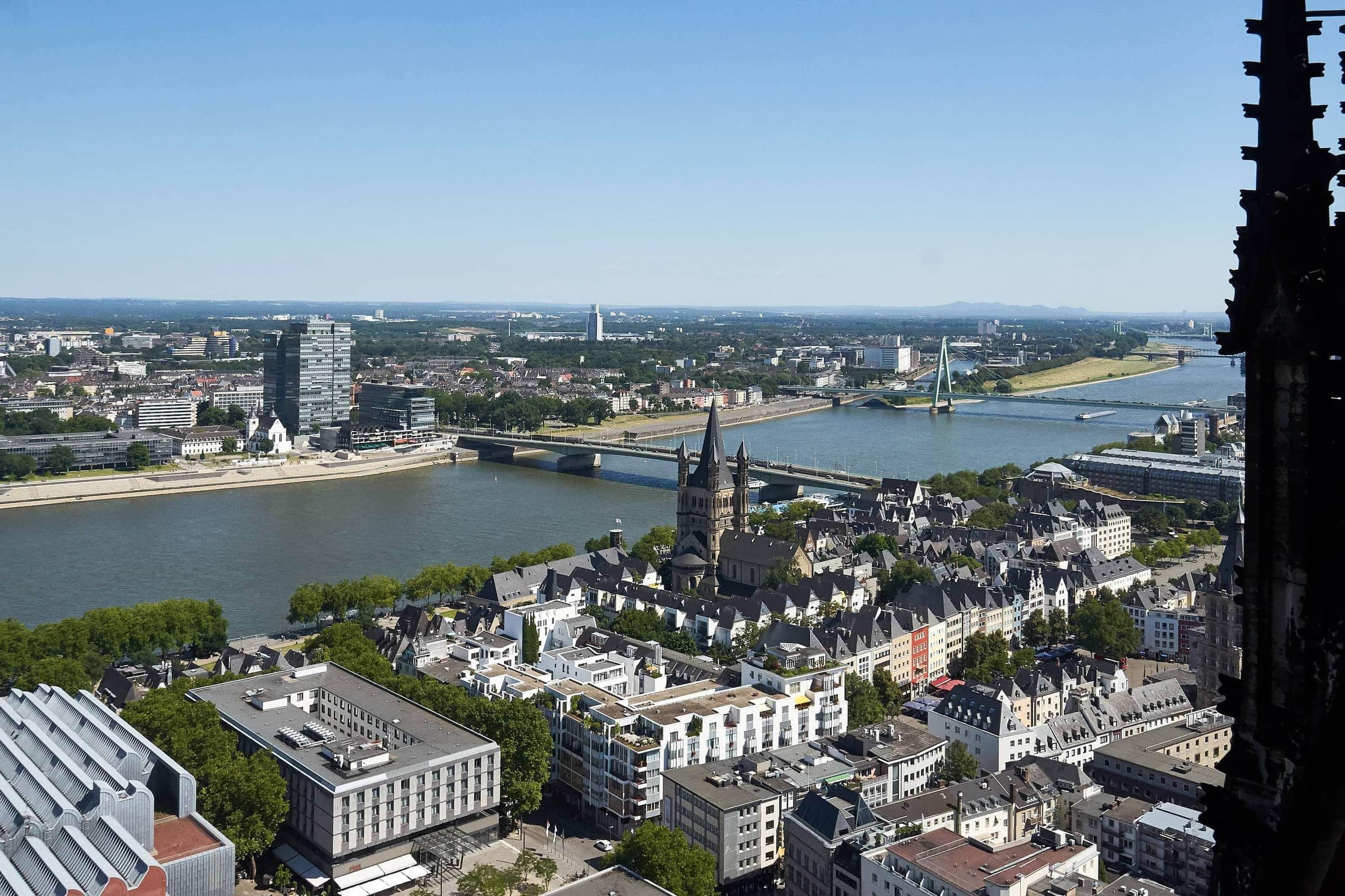 Ausblick vom Turm des Kölner Doms