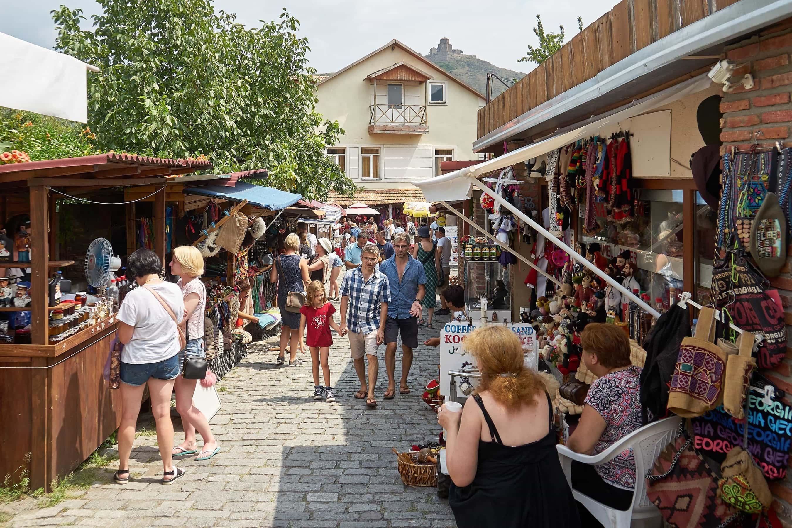 Einkaufsstraße in Mzcheta