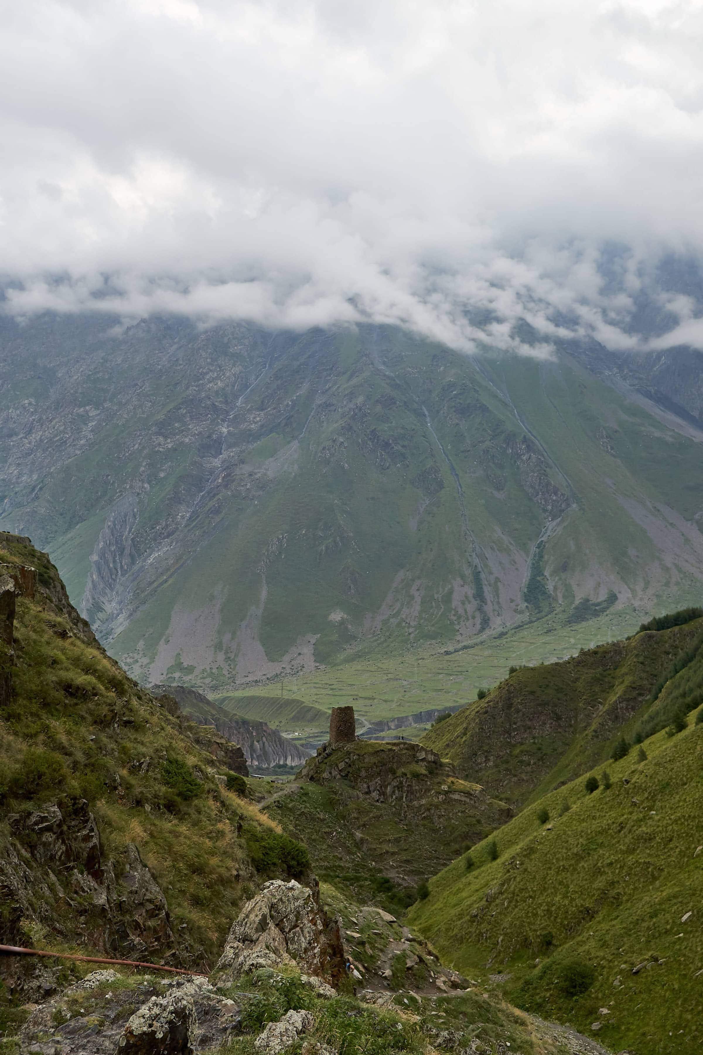 Aufstieg zum Gergeti-Kloster