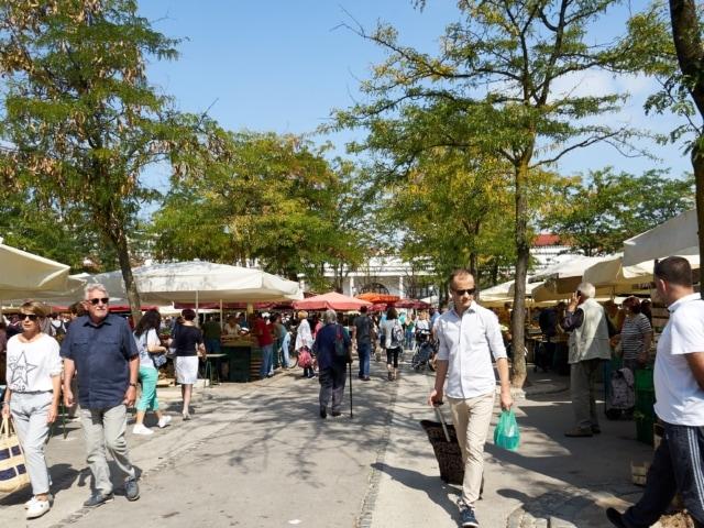 Obst- und Gemüsemarkt in Ljubljana