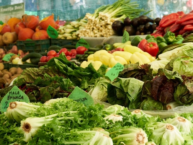 Gemüsestand am zentralen Markt