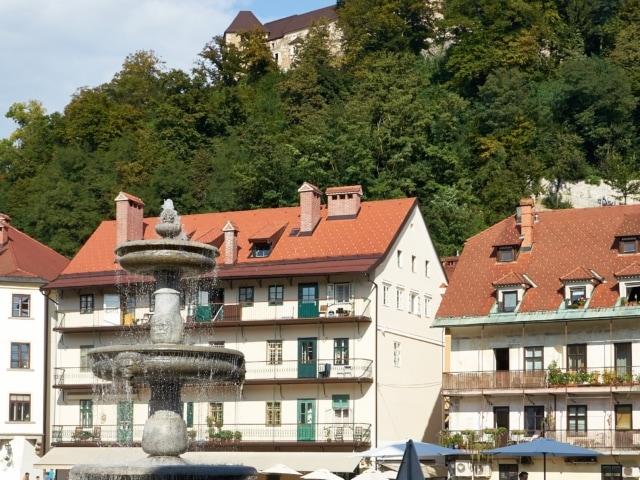 Ljubljanski grad über der Altstadt