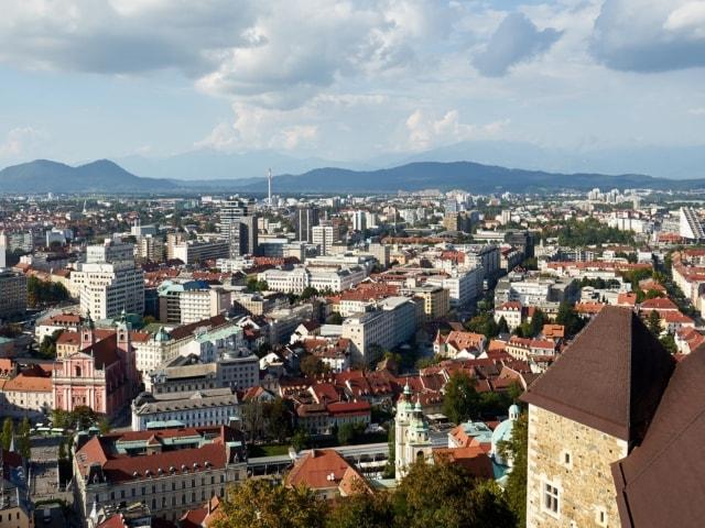 Blick über Ljubljana von der Burg