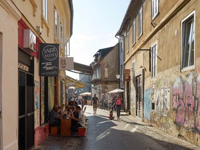 Gassen abseits des renovierten Zentrums in Ljubljana