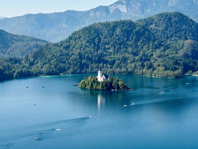 Bleder See von der Burg aus gesehen