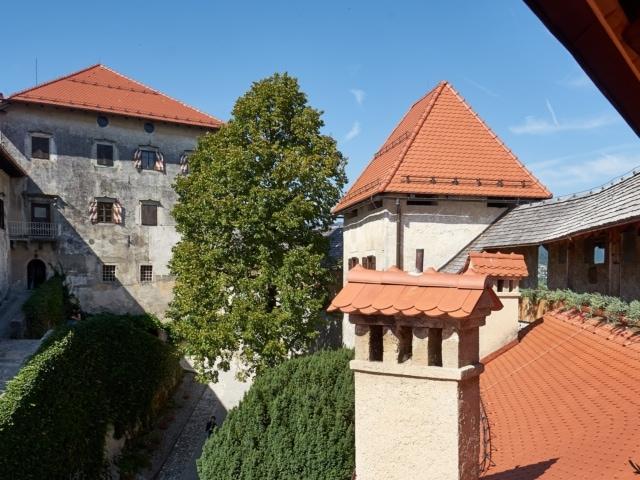 Wehrgang auf der Burg Bled