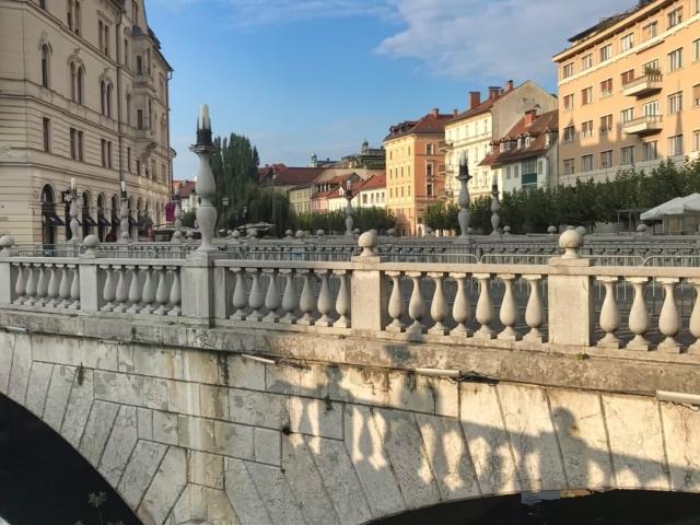 Drei Brücken über die Ljubljanica