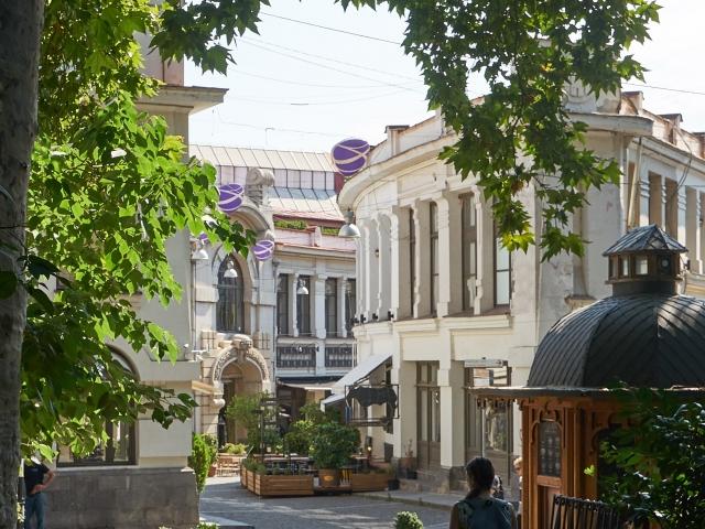 Shardeni-Viertel am Morgen