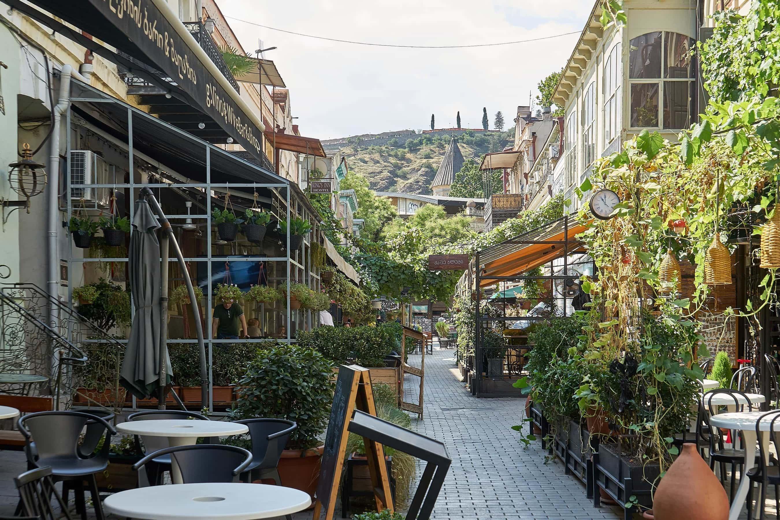 Restaurants in der Ioane Shavteli Straße