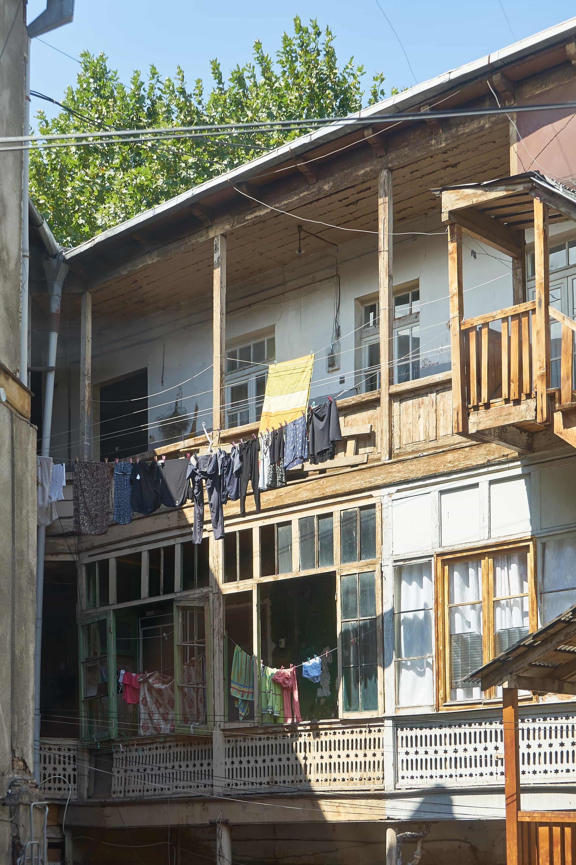 Hinterhöfe in der Altstadt von Tiflis