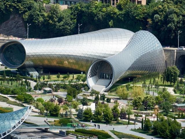 leerstehendes futuristisches Konzert- und Veranstaltungszentrum