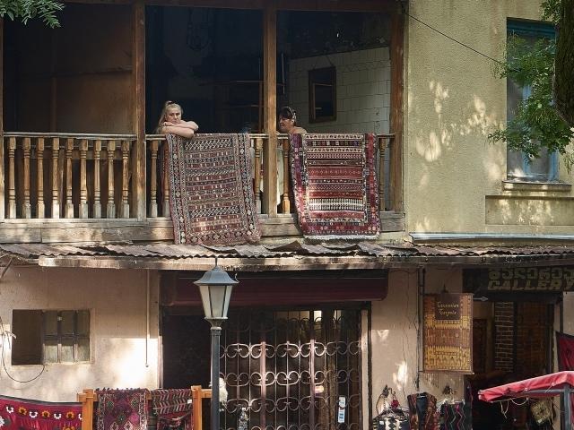 Teppichladen in der Altstadt von Tiflis
