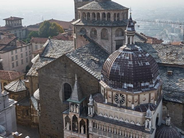 Basilica Santa Maria Maggiore mit Capella Colleoni in Bergamo