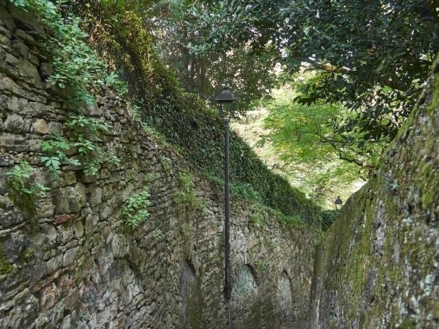 Treppe zwischen Città Alta und Città Bassa Bergamo