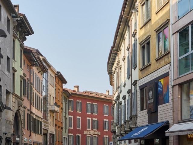 Einkaufsstraße in Bergamo