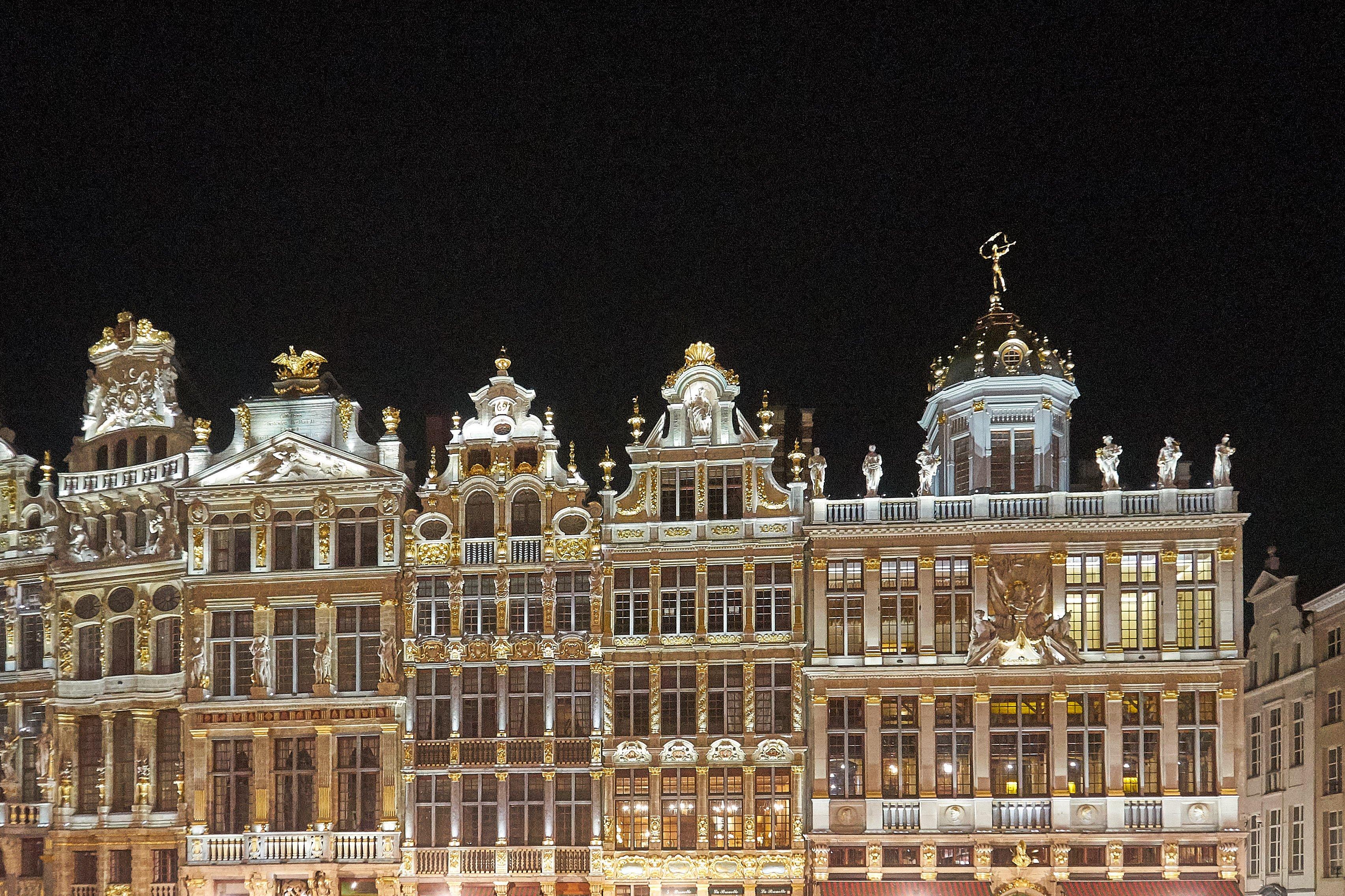 Grote Markt Brüssel bei Nacht
