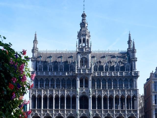 gotisches Rathaus am Grand Place in Brüssel