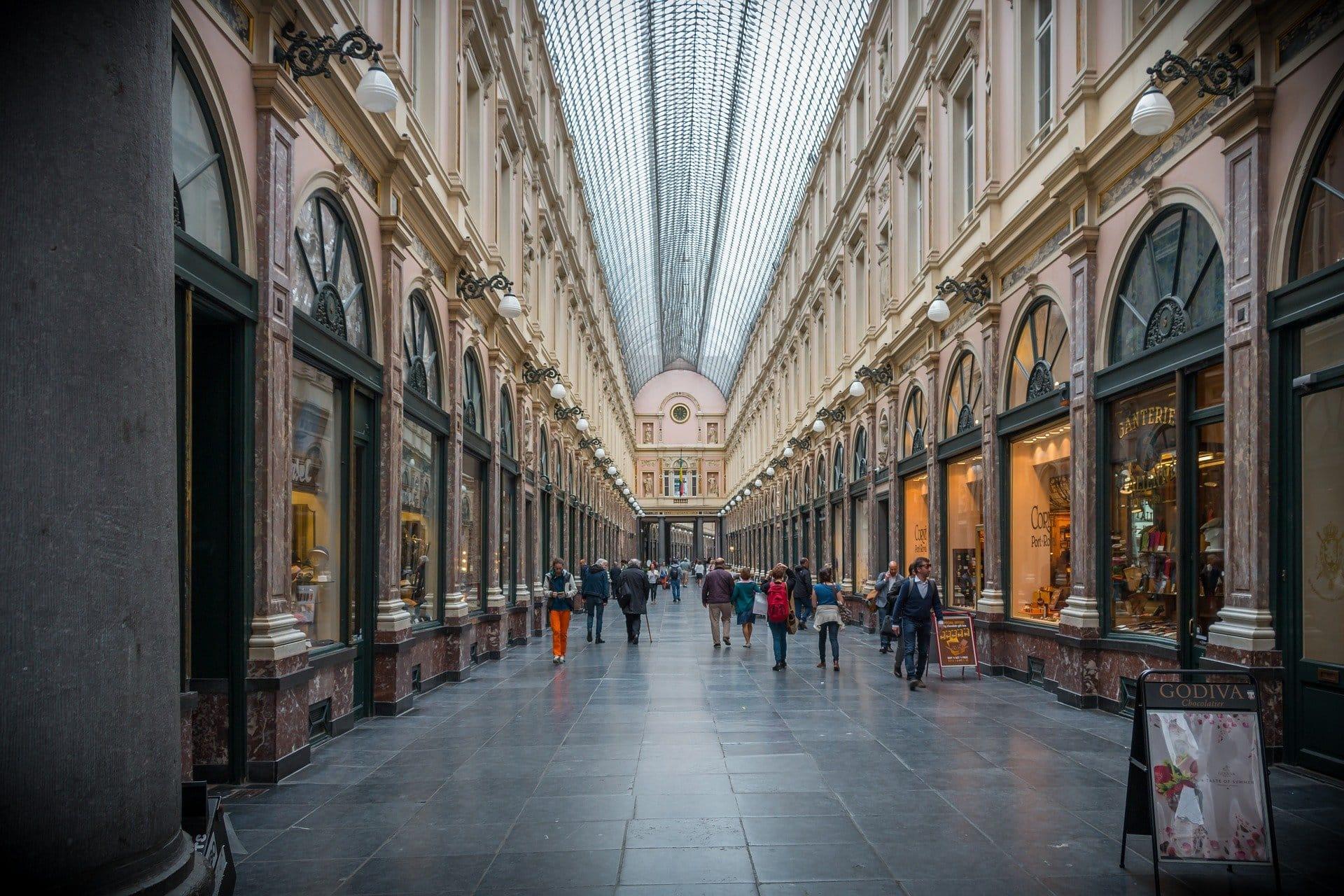 exklusive Einkaufspassage in Brüssel