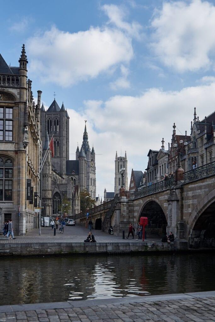die drei berühmten Kirchtürme von Gent