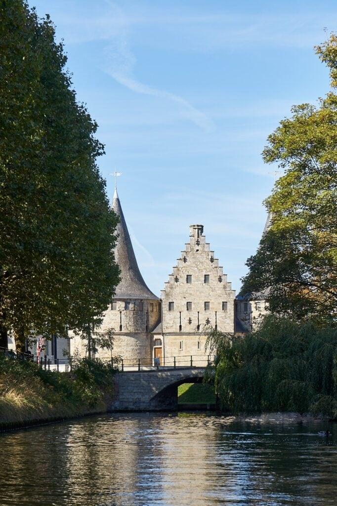 Teile der alten Stadtmauer in Gent