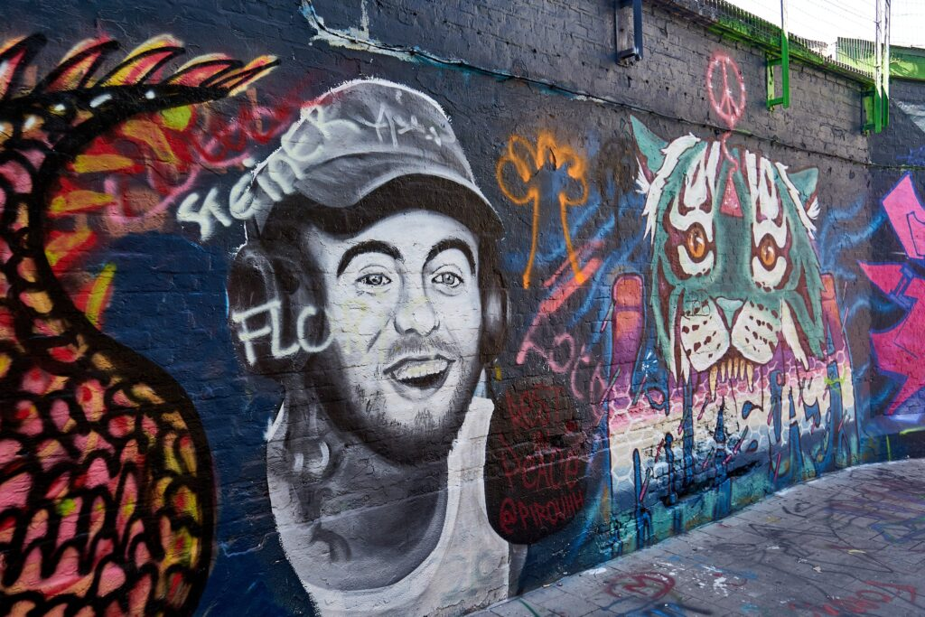 Wand in der Graffiti-Street in Gent
