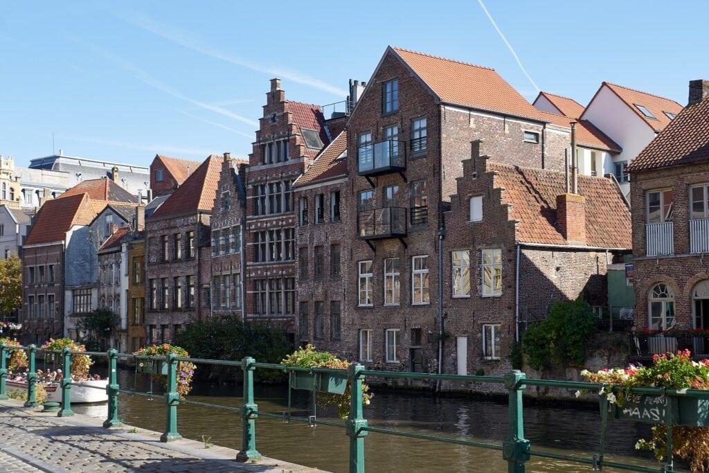 Häuser entlang der Leie in Gent
