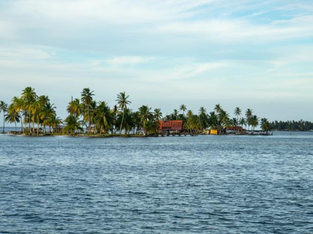 bewohnte Insel im San-Blas-Archipel