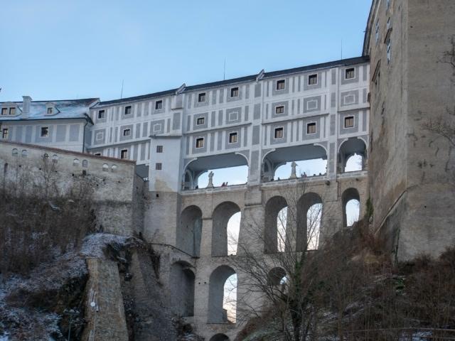 Brücke in der Burg Krumau