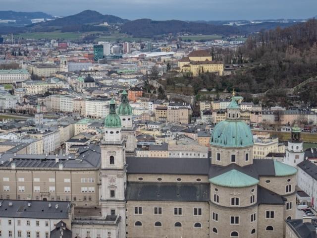 Blick von der Festung über die Altstadt