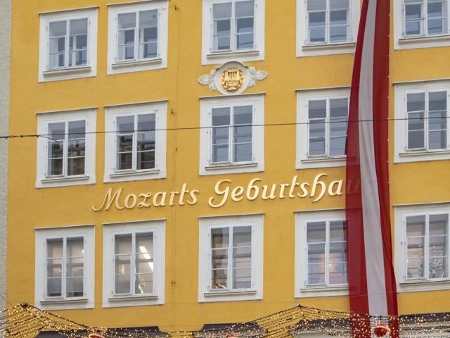 Geburtshaus von Mozart in der Getreidegasse