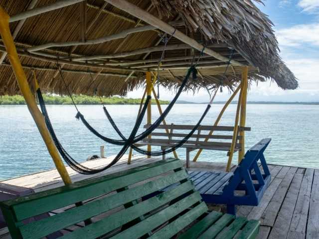 Bootsanleger auf Bastimentos Bocas del Toro
