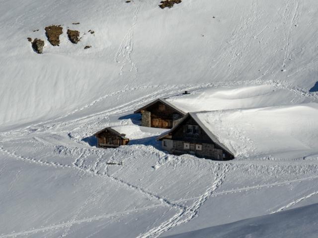 Alphütten auf der Fürenalp