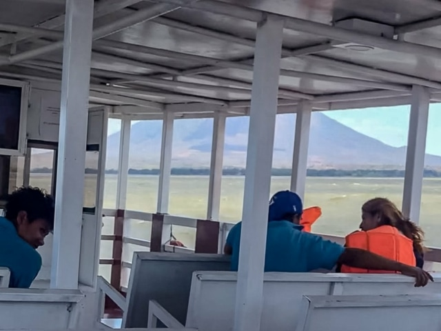 Boot von San Jorge nach Moyagalpa bei heftigen Seegang