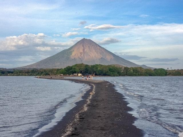 Aussichtspunkt auf die Vulkane der Zwillingsinsel