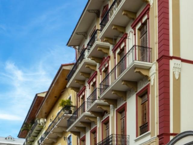 restaurierte koloniale Gebäude