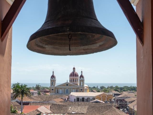 Colonialstädte Nicaraguas: Aussicht auf die Kathedrale von der Eglisia Merced