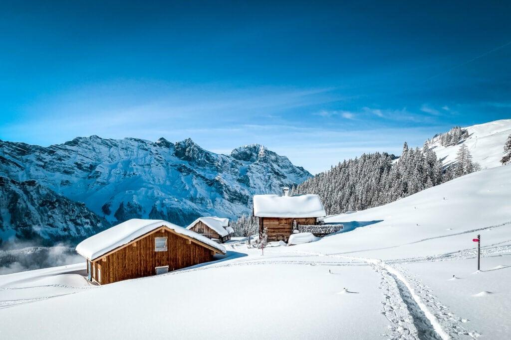 Engelberg: unterwegs auf den Schneeschuh-Trails im Brunni-Gebiet